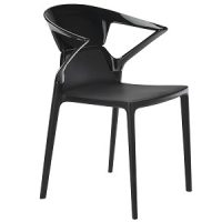черен поликарбонатен стол ego K
