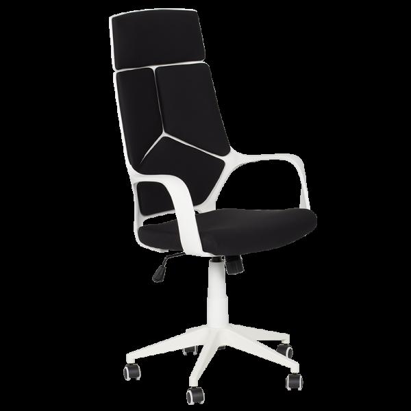 геймърски черно бял офис стол