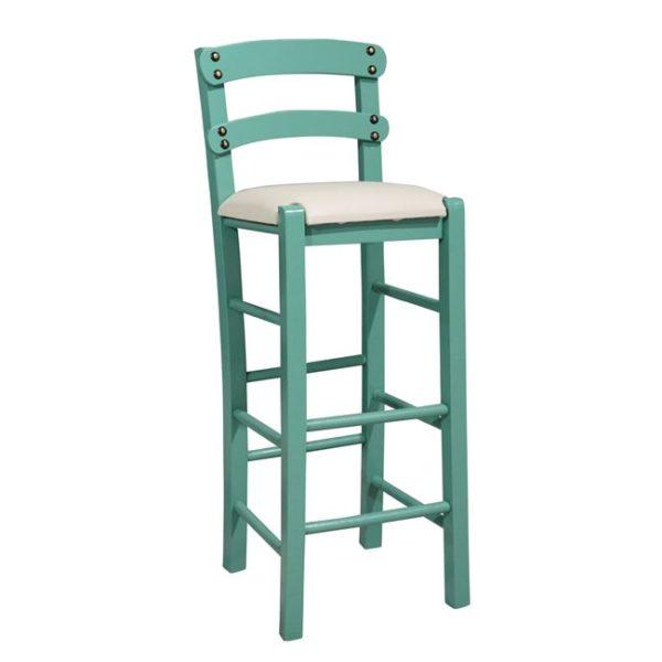 зелен бар стол