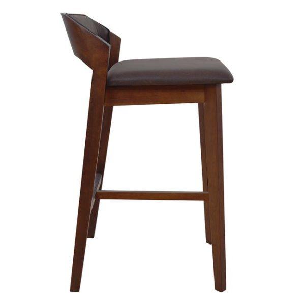 кафяв Дървен бар стол