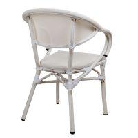 бял градински стол