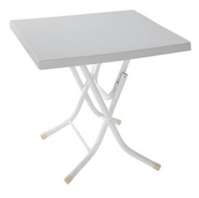бяла сгъваема маса