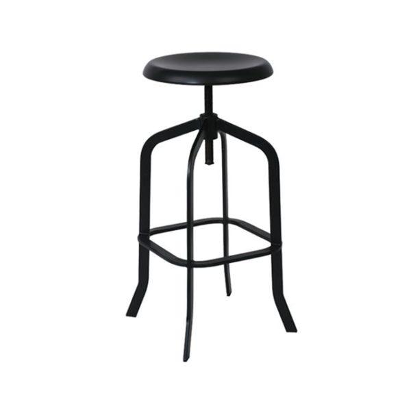 черен-метален-бар-стол