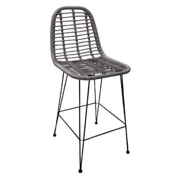 метален-бар-стол-ратан