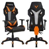 геймърски оранжев стол