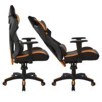 черен геймърски стол
