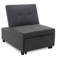 сиво-разтегателно-кресло