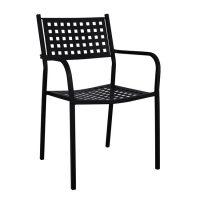черен-метален -стол