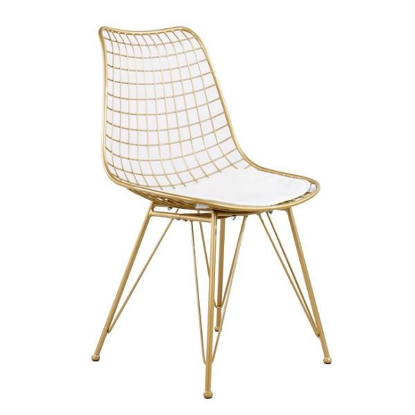zlaten-metalen-stol