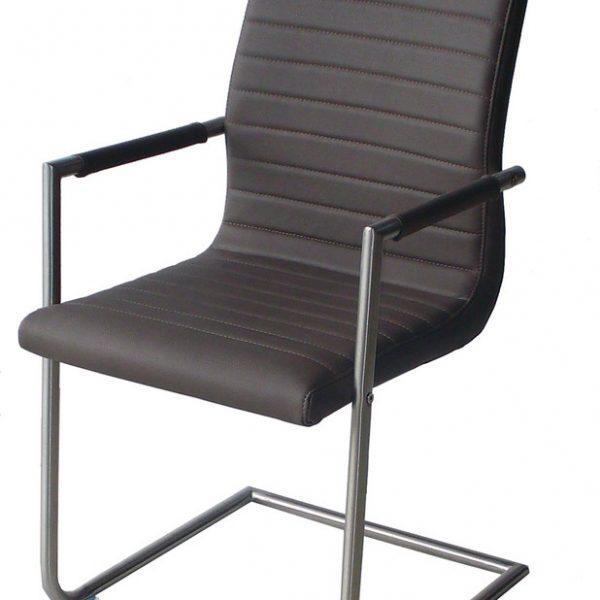 Стол-AM-749-сива-кожа