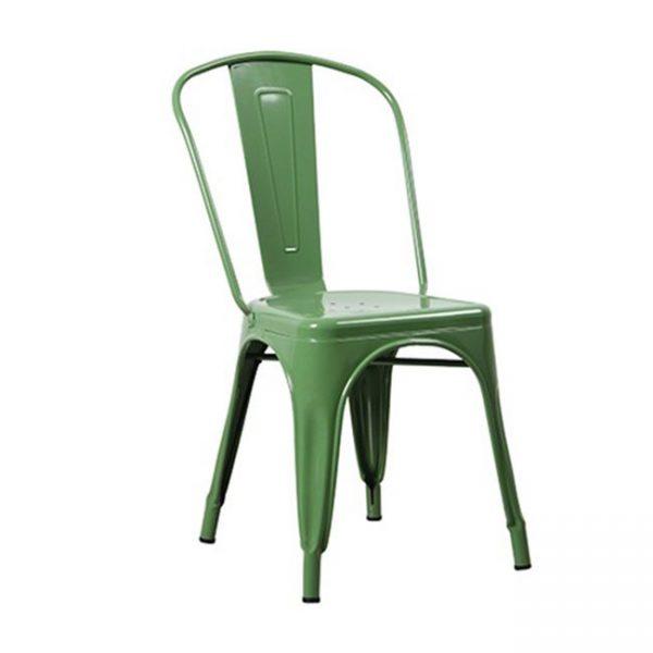 зелен-метален-стол