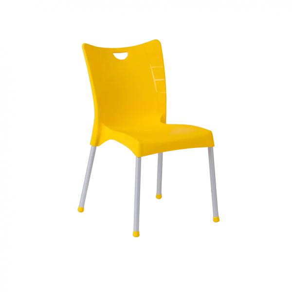 Пластмасов-стол-жълт