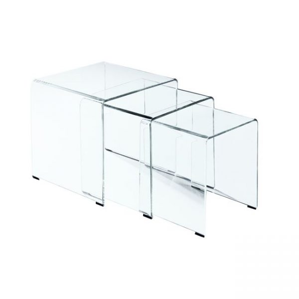 Стъклени масички комплект 3бр GLASSER